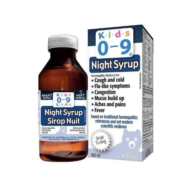 加拿大Kids0~9顺势疗法感冒糖浆 100%纯天然 儿童夜用