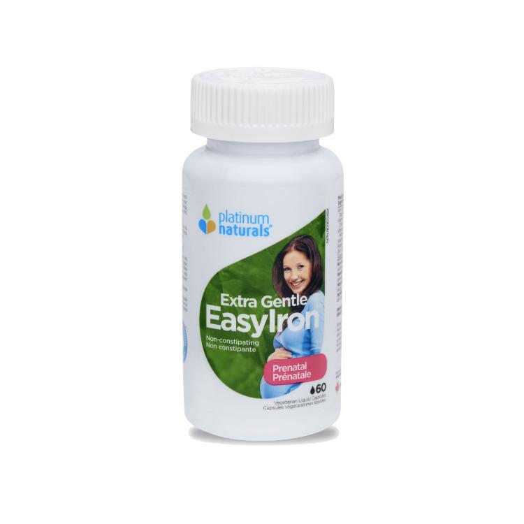 加拿大Platinum Naturals孕妇超级柔和补铁胶囊 含每日推荐量叶酸
