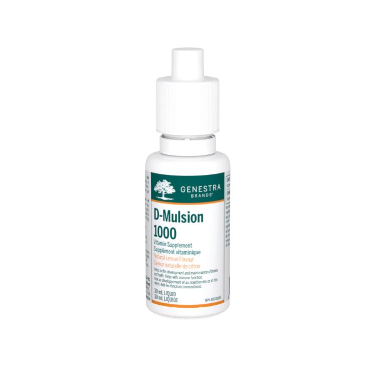 英国Genestra Brands乳化维生素D 30ml 柑橘味 更好吸收的乳化剂形式 促进钙质吸收