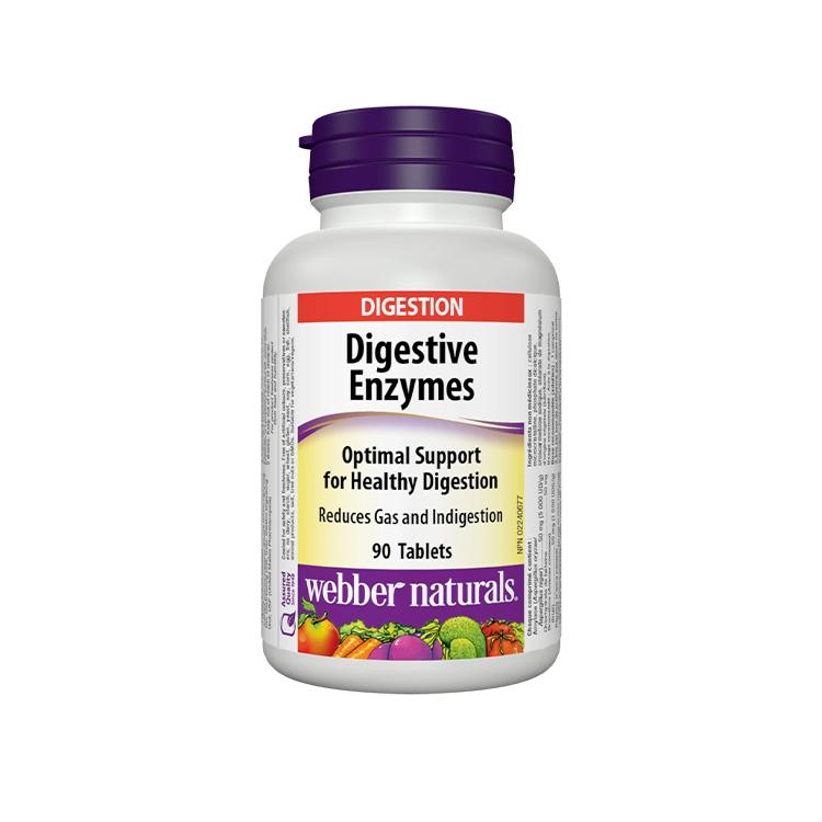Webber Naturals, Digestive Enzymes, 90 Tablets