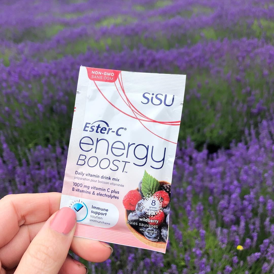 加拿大SISU酯化维生素C能量补充粉 橙子味 24小时免疫支持 添加B族维生素和电解质 提升精力 超强补水
